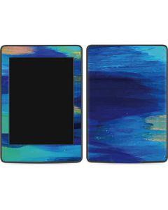 Ocean Blue Brush Stroke Amazon Kindle Skin