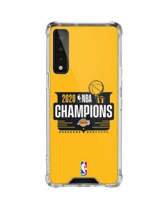 2020 NBA Champions Lakers LG Stylo 7 5G Clear Case
