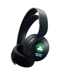 Boston Celtics Black Secondary Logo PULSE 3D Wireless Headset for PS5 Skin