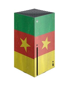 Cameroon Flag Distressed Xbox Series X Console Skin