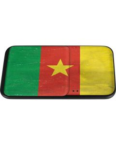 Cameroon Flag Distressed Wireless Charger Duo Skin