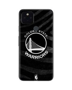 Golden State Warriors Black Animal Print Google Pixel 4a 5G Skin