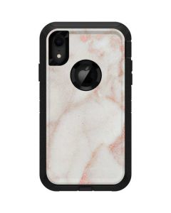 Rose Gold Marble Otterbox Defender iPhone Skin