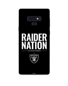 Las Vegas Raiders Team Motto Galaxy Note 9 Skin