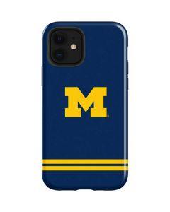 Michigan Logo Striped iPhone 12 Case