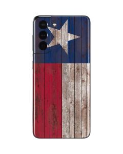 Texas Flag Dark Wood Galaxy S21 5G Skin