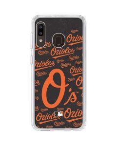 Baltimore Orioles - Cap Logo Blast Galaxy A20 Clear Case