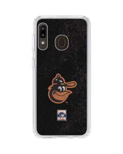 Baltimore Orioles - Cooperstown Distressed Galaxy A20 Clear Case