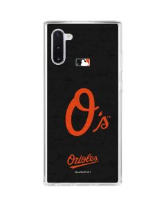 Baltimore Orioles - Solid Distressed Galaxy Note 10 Clear Case