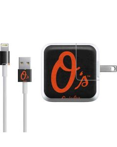 Baltimore Orioles - Solid Distressed iPad Charger (10W USB) Skin