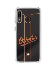 Baltimore Orioles Alternate/Away Jersey Galaxy A20 Clear Case