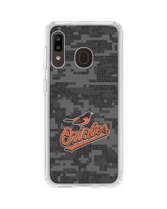 Baltimore Orioles Digi Camo Galaxy A20 Clear Case