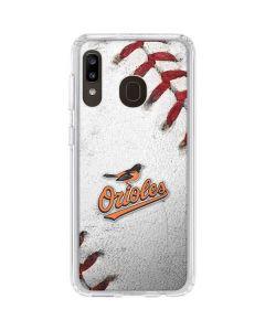 Baltimore Orioles Game Ball Galaxy A20 Clear Case