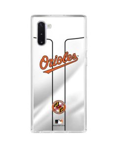 Baltimore Orioles Home Jersey Galaxy Note 10 Clear Case