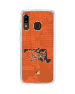 Baltimore Orioles Home Turf Galaxy A20 Clear Case