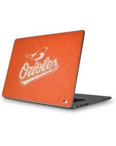 Baltimore Orioles Monotone Apple MacBook Pro 17-inch Skin