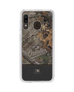 Baltimore Orioles Realtree Xtra Camo Galaxy A20 Clear Case
