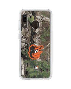 Baltimore Orioles Realtree Xtra Green Camo Galaxy A20 Clear Case