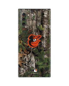Baltimore Orioles Realtree Xtra Green Camo Galaxy Note 10 Skin
