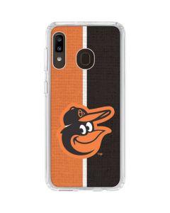 Baltimore Orioles Split Galaxy A20 Clear Case