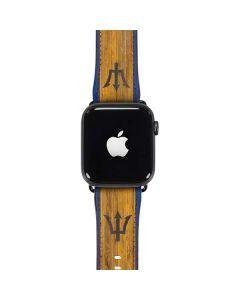 Barbados Flag Dark Wood Apple Watch Case