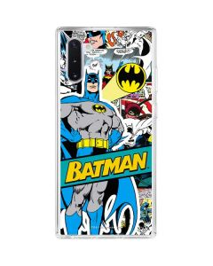 Batman Comic Book Galaxy Note 10 Clear Case