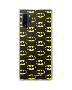 Batman Logo All Over Print Galaxy Note 10 Plus Clear Case