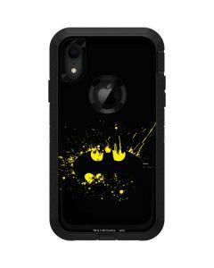 Batman Logo Yellow Splash Otterbox Defender iPhone Skin