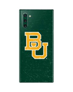 Baylor Bears Distressed Galaxy Note 10 Skin