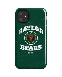 Baylor Faded Basketball iPhone 11 Impact Case