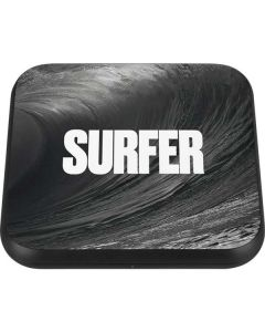 SURFER Black and White Wave Wireless Charger Single Skin