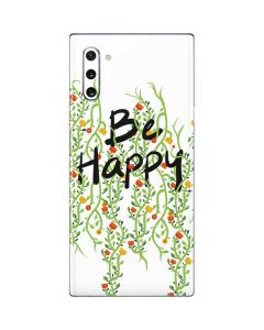 Be Happy Galaxy Note 10 Skin