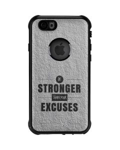 Be Stronger Than Your Excuses iPhone 6/6s Waterproof Case