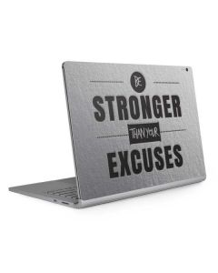 Be Stronger Than Your Excuses Surface Book 2 15in Skin
