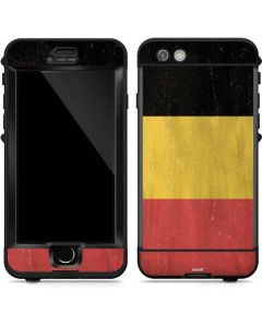 Belgium Flag Distressed LifeProof Nuud iPhone Skin