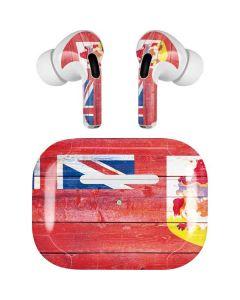 Bermuda Flag Light Wood Apple AirPods Pro Skin