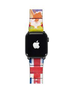 Bermuda Flag Light Wood Apple Watch Band 38-40mm
