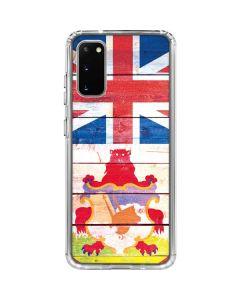 Bermuda Flag Light Wood Galaxy S20 Clear Case