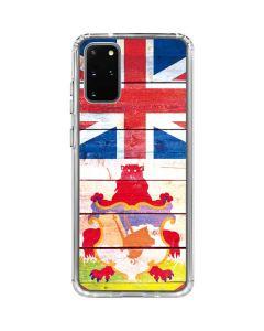 Bermuda Flag Light Wood Galaxy S20 Plus Clear Case