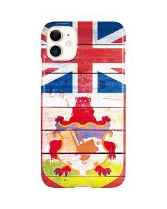 Bermuda Flag Light Wood iPhone 11 Lite Case