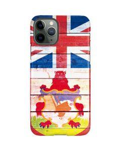 Bermuda Flag Light Wood iPhone 11 Pro Lite Case