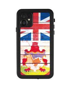 Bermuda Flag Light Wood iPhone 11 Waterproof Case
