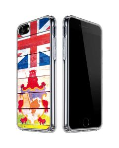 Bermuda Flag Light Wood iPhone SE Clear Case