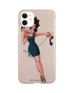 Betty Boop on the phone iPhone 11 Lite Case
