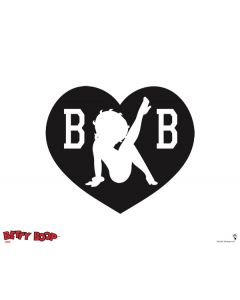 Betty Boop BW Galaxy Book Keyboard Folio 12in Skin