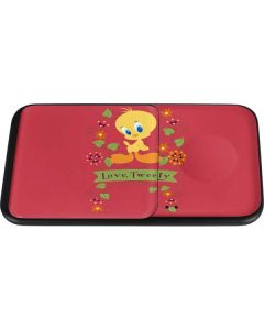 Tweety Embroidered Wireless Charger Duo Skin