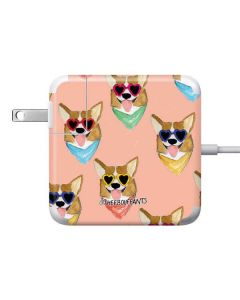 Corgi Love 85W Power Adapter (15 and 17 inch MacBook Pro Charger) Skin