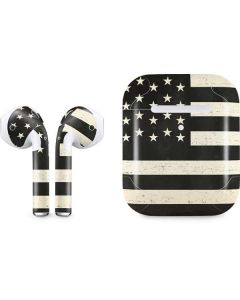 Black & White USA Flag Apple AirPods 2 Skin
