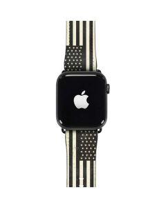 Black & White USA Flag Apple Watch Case