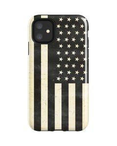 Black & White USA Flag iPhone 11 Impact Case